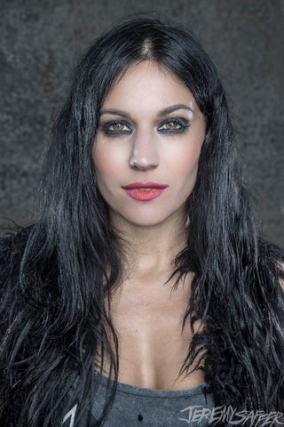 Cristina Scabbia - Portrait 2 - Signed Limited Edition Metallic Print