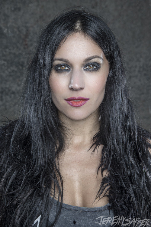 Cristina Scabbia - portrait 2 - limited edition metallic print