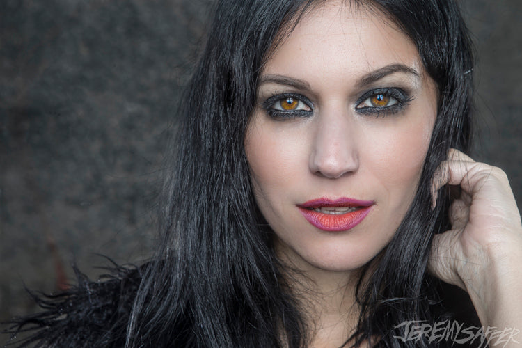 Cristina Scabbia - Portrait - Signed Limited Edition Metallic 4x6 Print