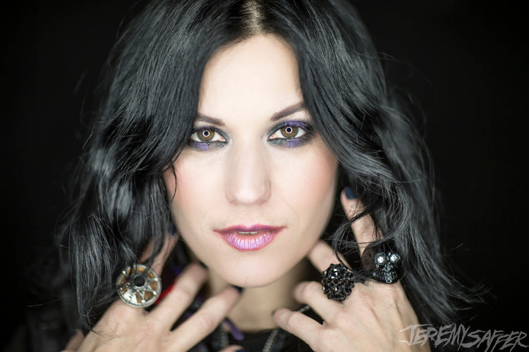 Cristina Scabbia - Feathers - Signed Limited Edition Metallic Print