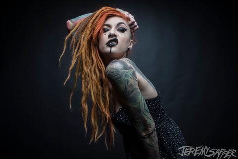 Lena Scissorhands - Sneer - Signed Limited Edition 8x12 Metallic Print (3 left!)