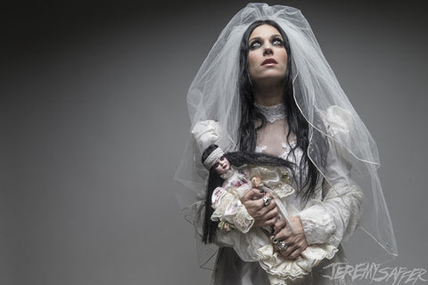 Cristina Scabbia - The Doll - limited edition metallic print