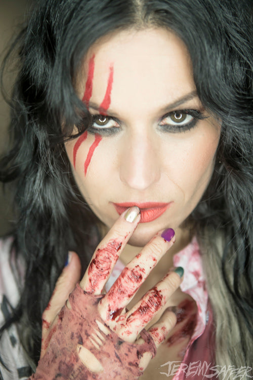 Cristina Scabbia - Bloody Knuckles - Signed Limited Edition Metallic 4x6 Print