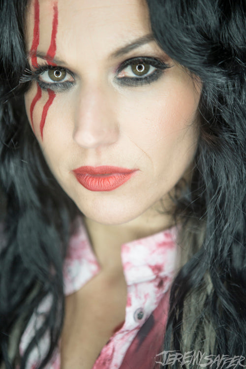 Cristina Scabbia - Ringlight and Red - Signed Limited Edition Metallic Print