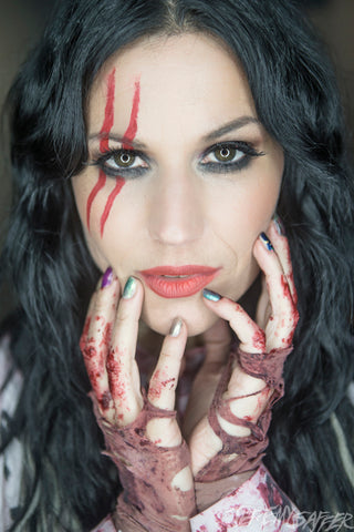 Cristina Scabbia - Bathory - Signed Limited Edition Metallic Print