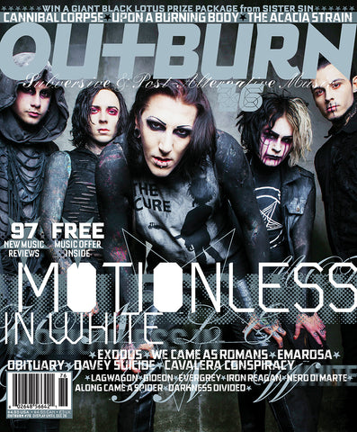 Outburn 76 - Motionless In White / Nikki Misery - Autographed by Jeremy