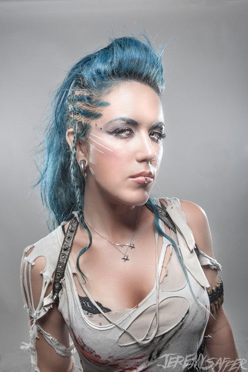 Alissa White-Gluz - Anger - Metallic Mini Print