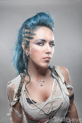 Alissa White-Gluz - Anger - Signed Metallic Mini Print
