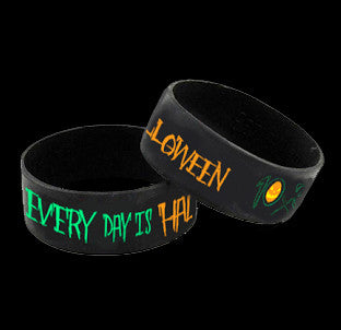 Every Day Is Halloween Rubber Wristband