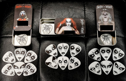 Daughters of Darkness - Guitar Pick Tin Collection (set of 3 tins, 21 picks)