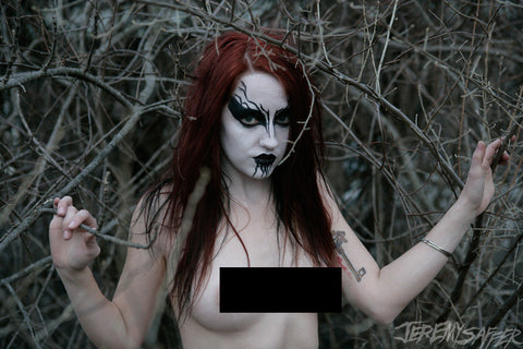 Corpse Paint Nude - Metallic Mini-Print