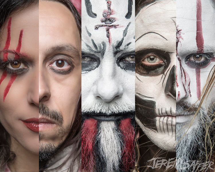 Lacuna Coil - The 5 Faces of Lacuna - Metallic mini Print