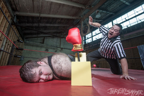 Adriangale - Sucker Punch! Hes Out! - signed limited edition 8x12 metallic print