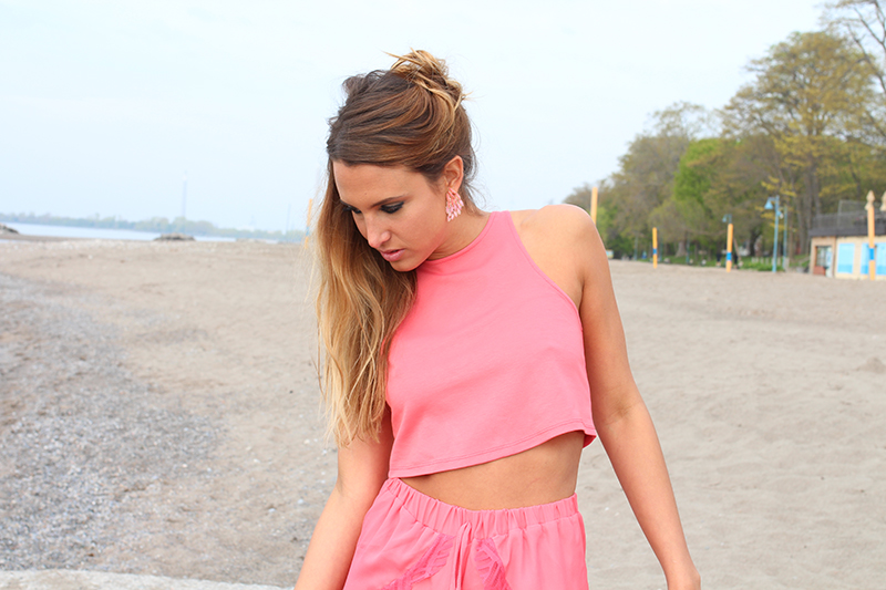 Basic Coral Crop Top