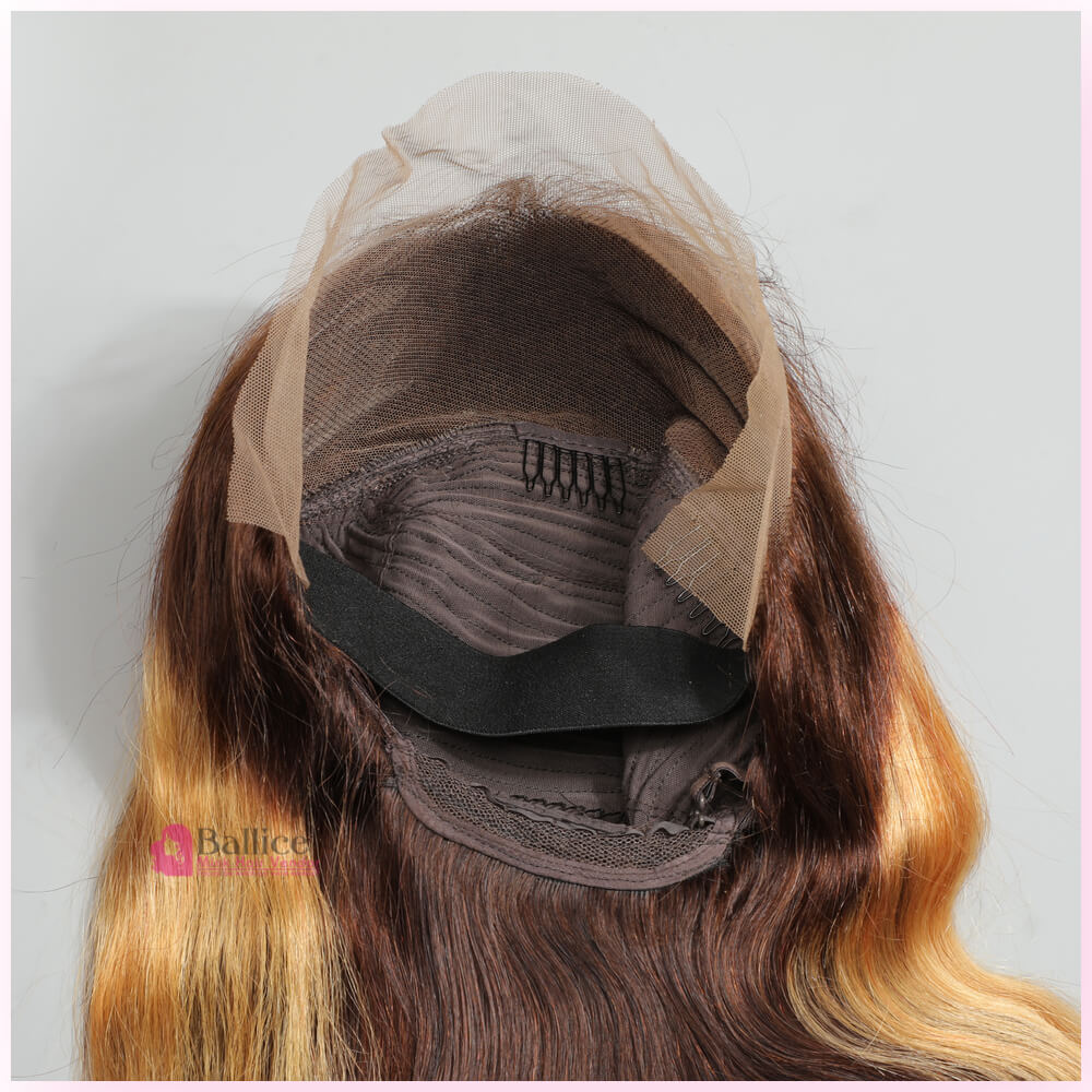 Ombre Highlight 13x4 Transparent Lace Wig Body Wave