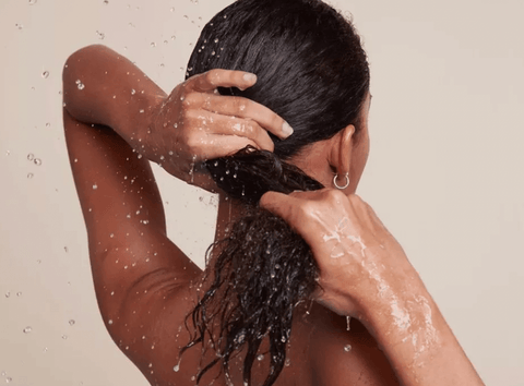 wash the hair with sew in weave