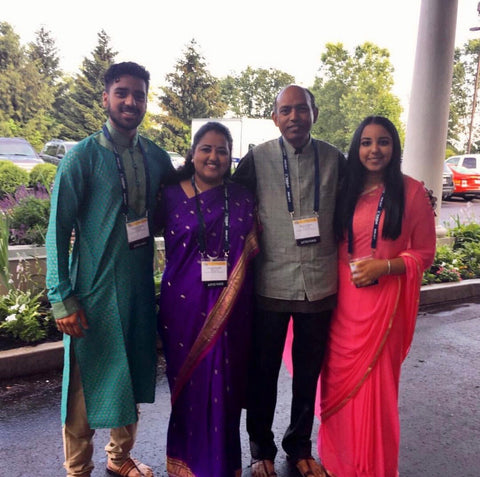 Purnima with her family!