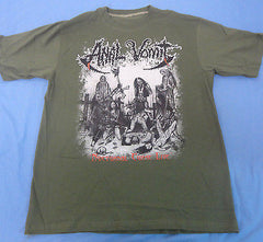 ANAL VOMIT - Nocturnal Curse Live Green Camo T-Shirt