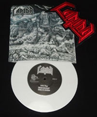 "LAPIDA - Solucion Final 7"" EP Die Hard Limited  Edition with Patch."