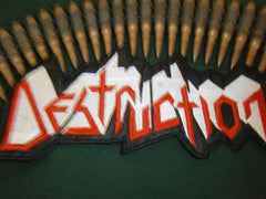 DESTRUCTION - Embroidered Back Patch