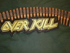 OVERKILL - Embroidered Back Patch