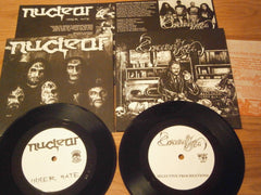 "NUCLEAR / CONCEIVED BY HATE - Split 7"" EP"