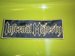INFERNAL MAJESTY - Embroidered Logo Patch