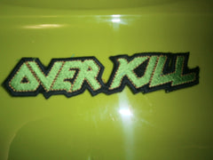 OVERKILL - Embroidered Cut Shaped Patch
