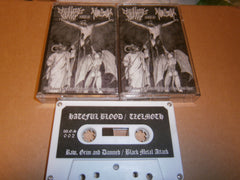 TZELMOTH / HATEFUL BLOOD - Old Madness: Grim and Damned. Split Tape