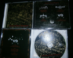 DIABOLOUS666 / GRAVE DESECRATION / PUTRID / VLAD - Impious Noise Massacre 4 Way Split CD.