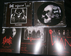 CURSE / STYGGELSE / WAN - Necroholic. 3 Way Split CD.