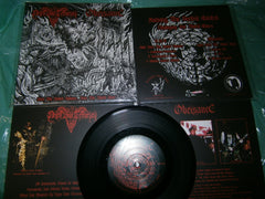 "NEGRO BODE TERRORISTA / OBEISANCE - Fuck the United Nations... Fuck the World Peace. 7"" EP Split."