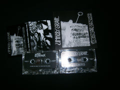 UNHOLY GRAVE / MASS SEPARATION - Distressed -Stop Inhuman Madness. Split Tape.