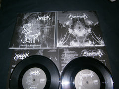 "MANTAK / ENSHADOWED - The Art Ov Blasphemies - Nekrosimon 7"" Split EP"