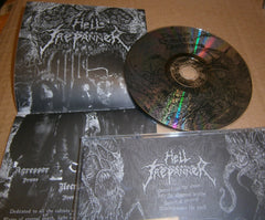 HELL TREPANNER / DESHUMANIZED - Towards The Diabolical Domains. Split CD