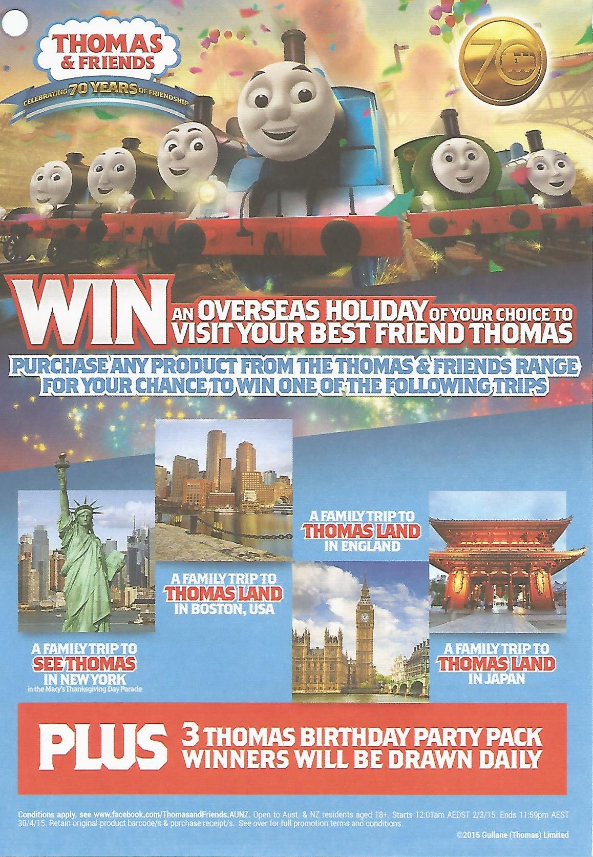 thomas  u0026 friends 70th anniversary competition by mattel