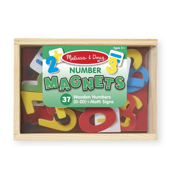Melissa & Doug - Magnetic Wooden Numbers - Toot Toot Toys