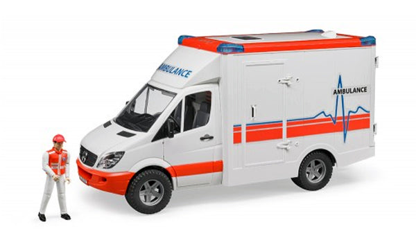Bruder - Mercedes Benz Sprinter Ambulance with driver (02536) - Toot Toot Toys