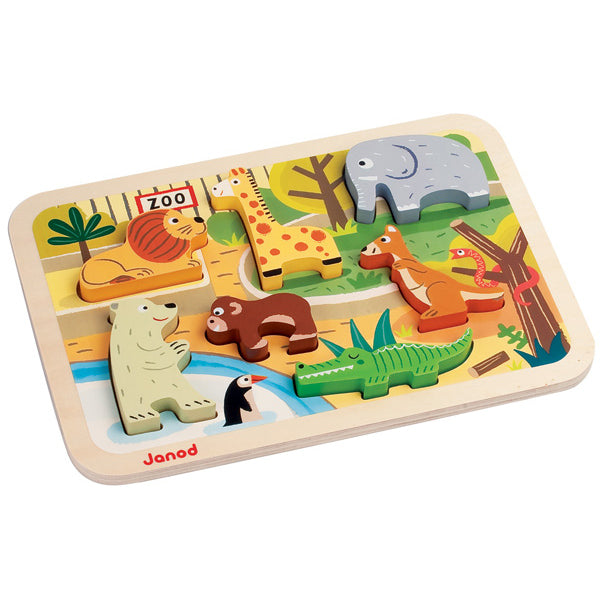 Janod - Zoo Chunky Puzzle - Toot Toot Toys