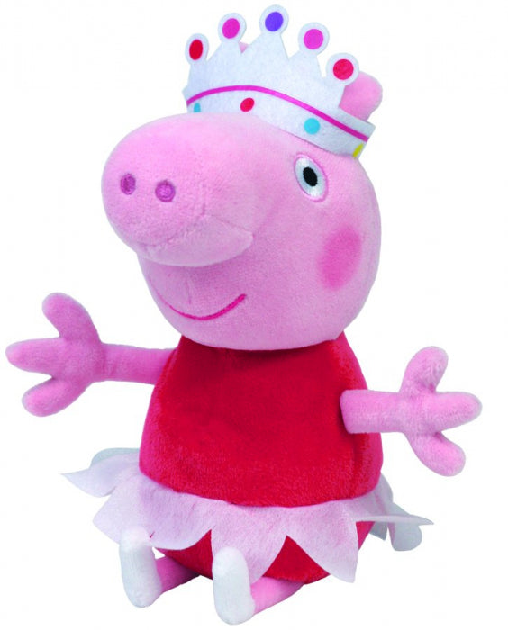 Peppa Pig Ballerina  - Beanie Boos (Small) - Toot Toot Toys