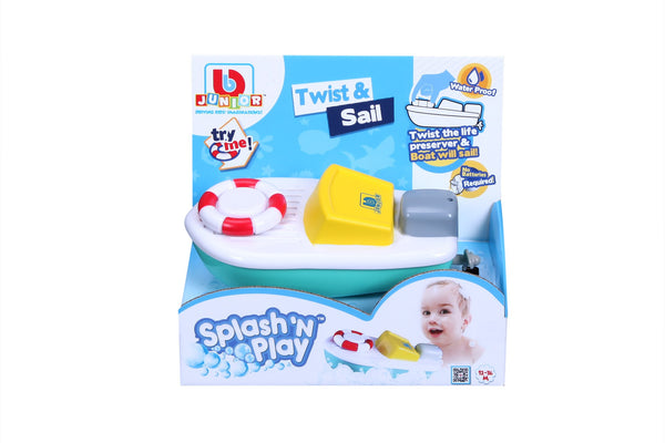 BBJunior - Splash N Play Twist and Sail Motorboat - Toot Toot Toys