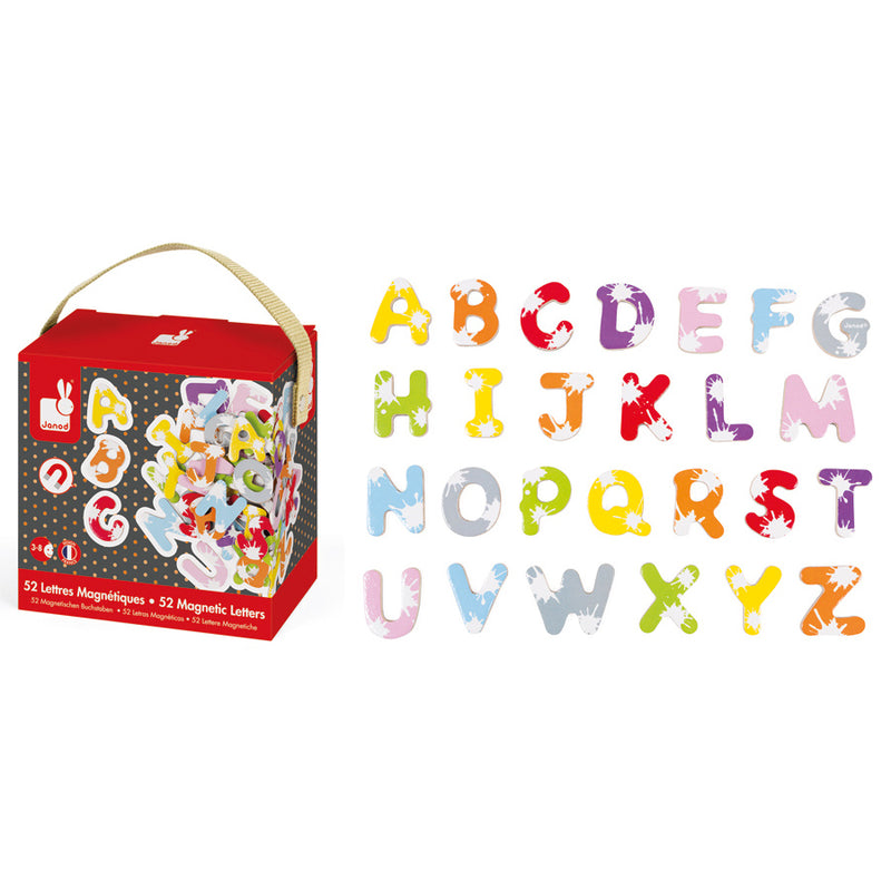 Janod - 52 Magnetic Letters - Toot Toot Toys