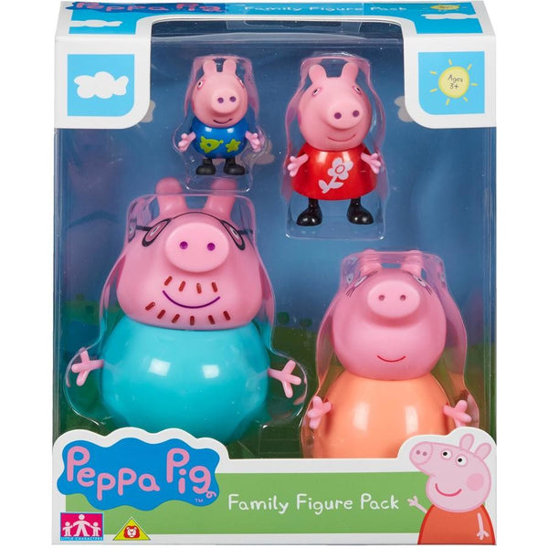 Peppa Pig - Family Figure Pack - Toot Toot Toys