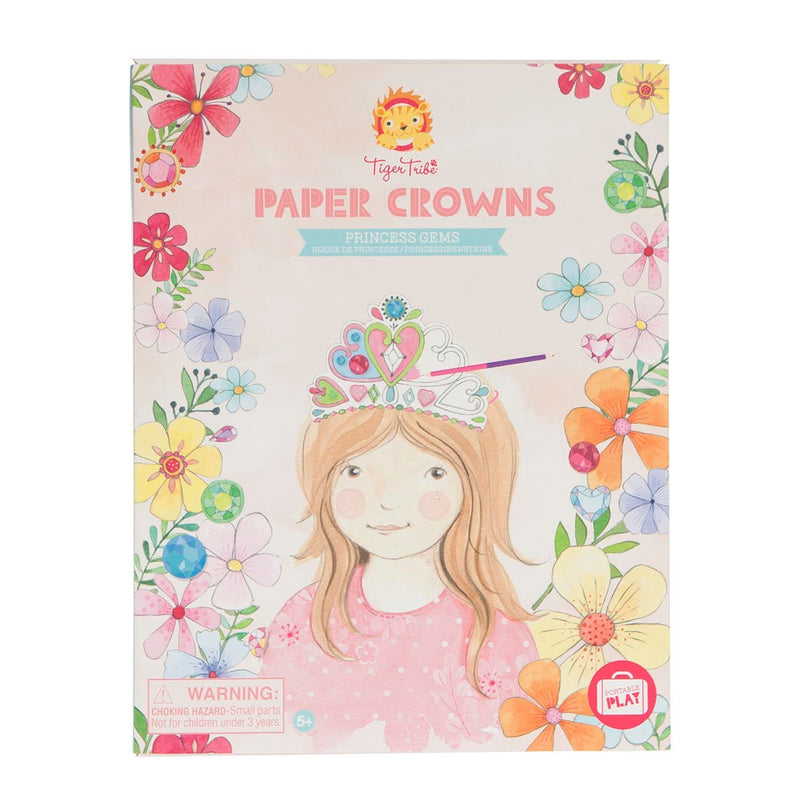 Tiger Tribe - Paper Crowns - Princess Gems - Toot Toot Toys