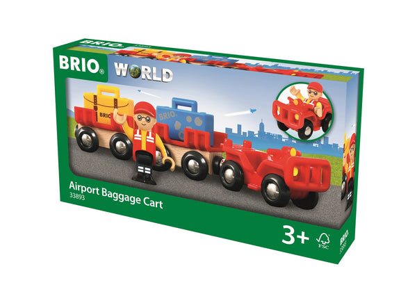 BRIO - Airport Baggage Cart (33893) - Toot Toot Toys