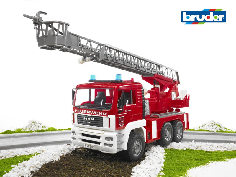 Bruder - MAN TGA Fire Engine w/Water Pump & Light&Sound Module (02771) - Toot Toot Toys