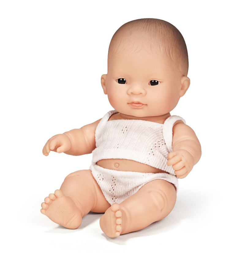 Miniland - Anatomically Correct Baby Doll - Asian Girl (21cm)
