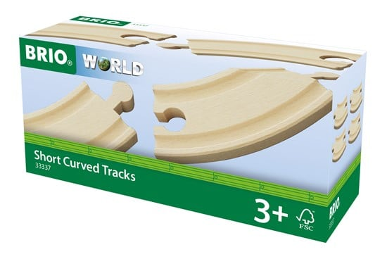 BRIO - Short Curved Tracks (33337) - Toot Toot Toys