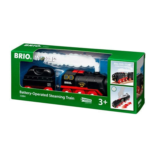 BRIO -  Battery-Operated Steaming Train (33884)