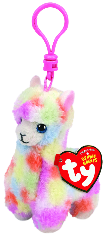 Lola the Multicoloured Llama - Beanie Boos (Clip On) - Toot Toot Toys